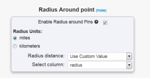 Adding Radius around a point
